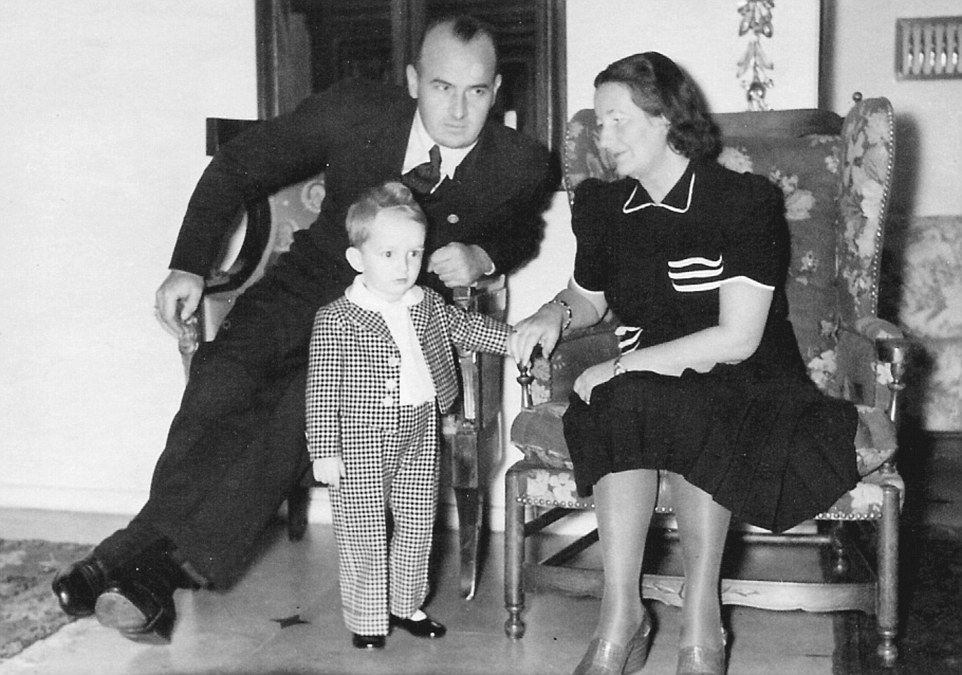 Frank - pictured with Niklas and his mother Brigitte, dubbed the 'Queen of Poland', in the 1940s Frank - pictured with Niklas and his mother Brigitte, dubbed the 'Queen of Poland', in the 1940s