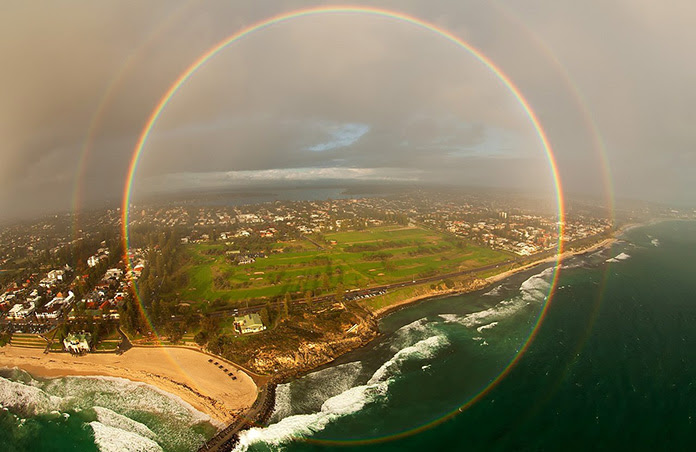 In rare cases, you can see a rainbow at 360 from a plane