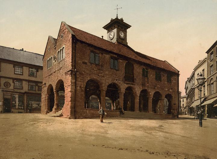 Market hall in Ross-on-Wye, Herefordshire
