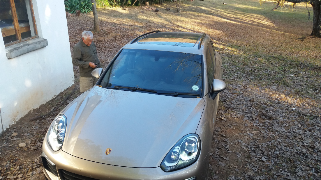 Kurt with his latest car-a Porsche Cayenne & Jeremy Clarkson was not on hand to put it through its paces
