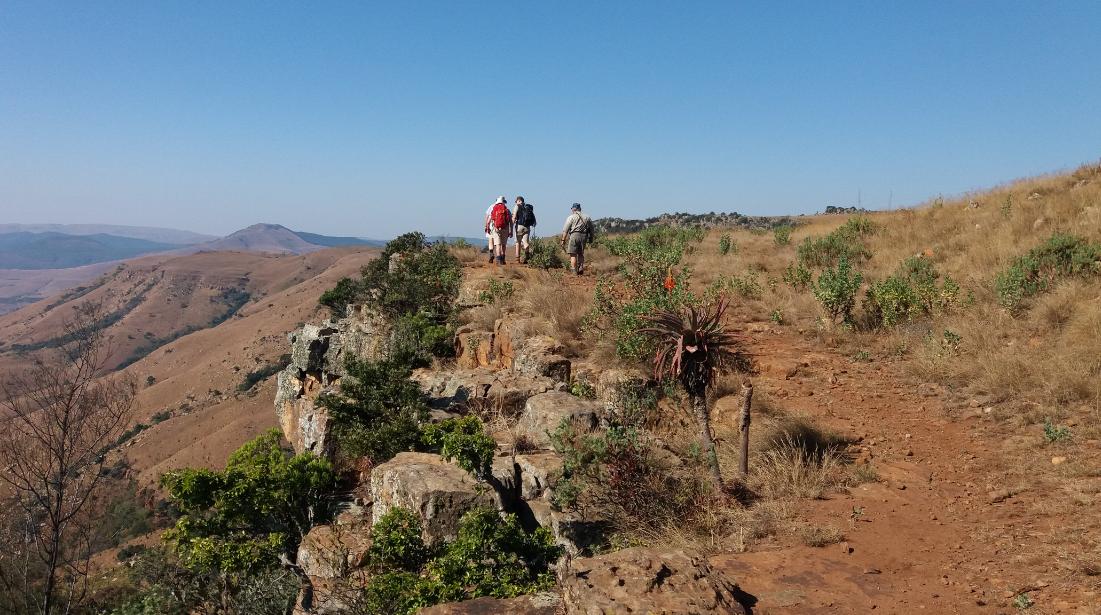 Walking along the ridge