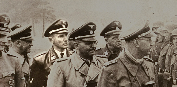 Otto Wachter on inspection with Heinrich Himmler