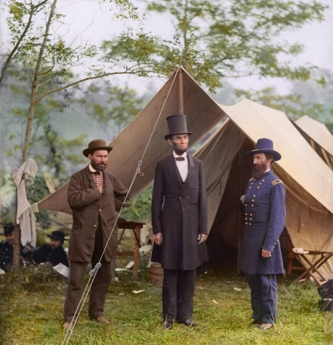 President Lincoln with Major General McClelland and Allan
