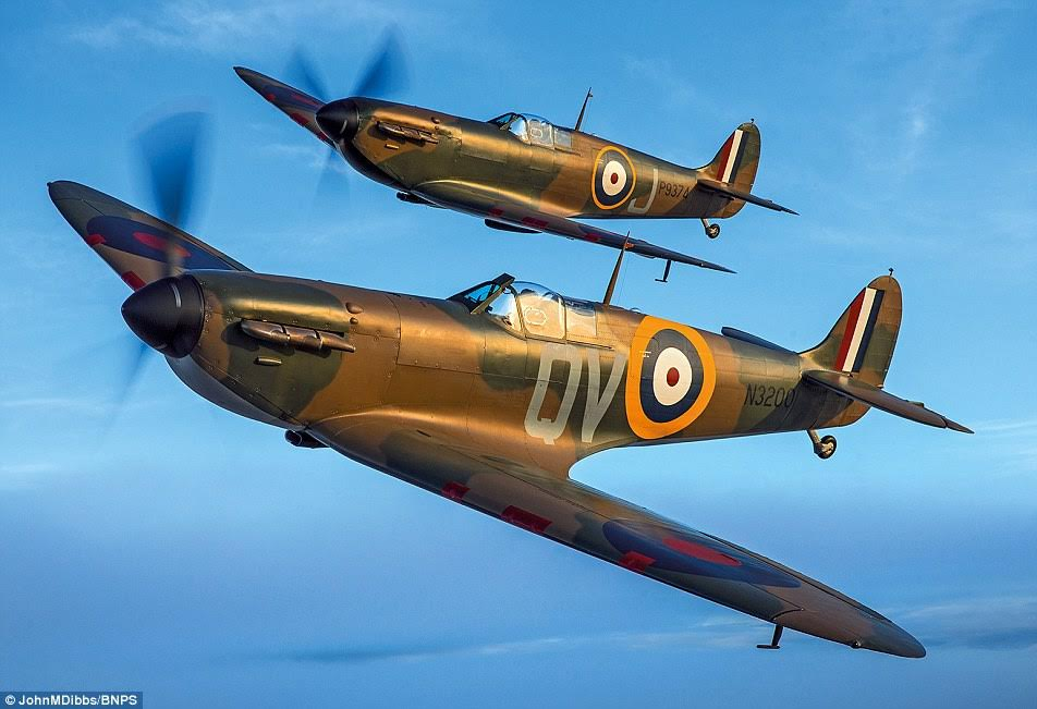 Shine: Spitfire N3200 the oldest Spitfire still flying and now fully restored after being shot down over Dunkirk in May 1940 before it was found in 1986