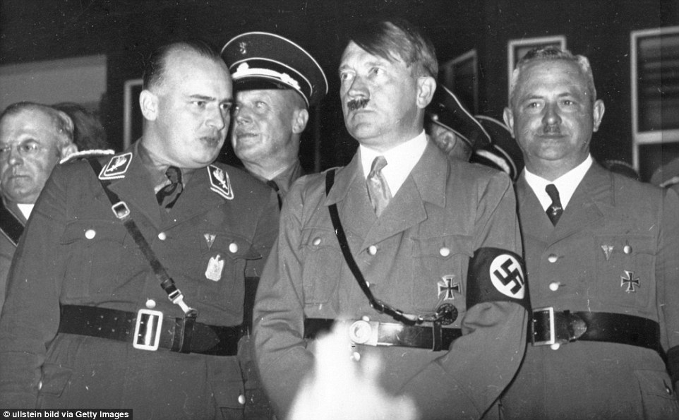 Sons of evil- Frank, left, was Hitler's right-hand man for many years - even making him godfather to, Nilkas