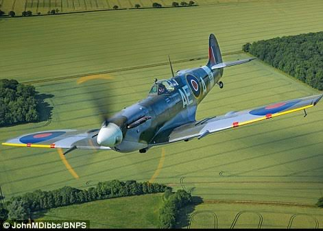 Mk Vb Spitfire EP120 powered by a Rolls Royce Merlin. The plane was taken on by the RAF in May 1942 and assigned to 501 squadron