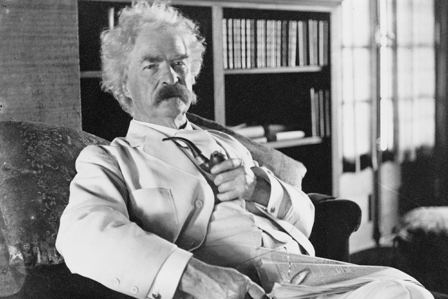 "Author Mark Twain was born in 1835, a year that Halley's Comet was visible from the Earth, a phenomenon that occurs just once every 76 years. The day after the next appearance of the comet, in 1910, Twain died. Perhaps this alone is not a huge coincidence, but the year before his death, Twain had actually predicted (and hoped for) this very outcome, stating ""I came in with Halley's Comet in 1835. It is coming again next year, and I expect to go out with it. It will be the greatest disappointment of my life if I don't go out with Halley's Comet."""
