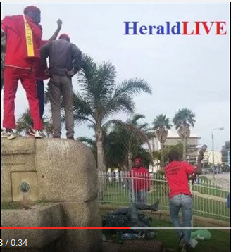 Destruction of Horse Memorial by the EFF#02