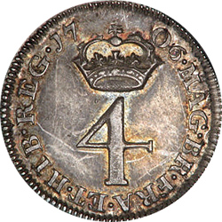 Early 4 pence coin