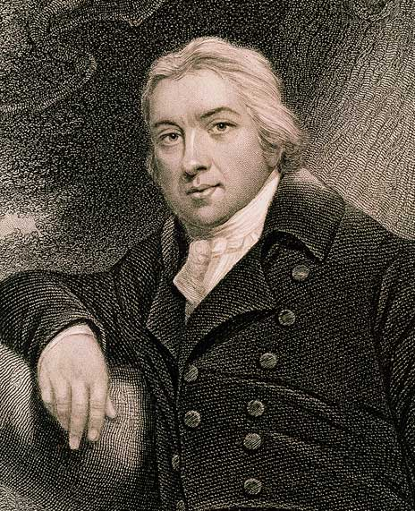 Engraving of Edward Jenner, the British physician