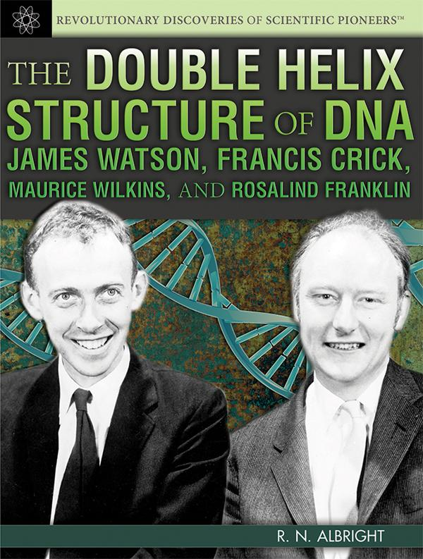 Francis Crick and James Watson, the co-discoverers of the double helix structure of DNA