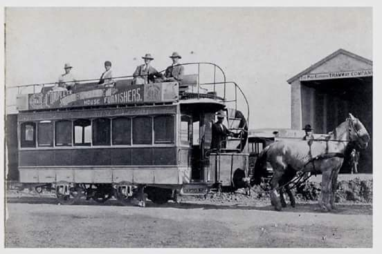 The last horse drawn trams in Port Elizabeth were in 1897.