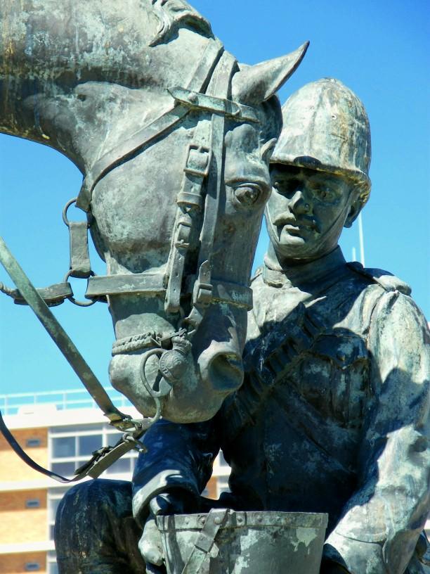 Horse memorial close up
