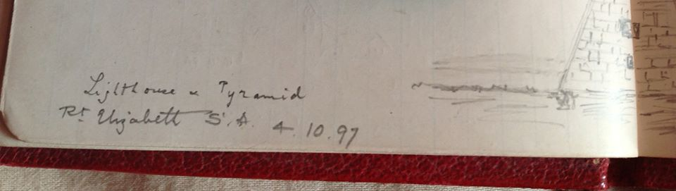 Date on which the Client sat at the Grand, then Buntons and drew the sketch.