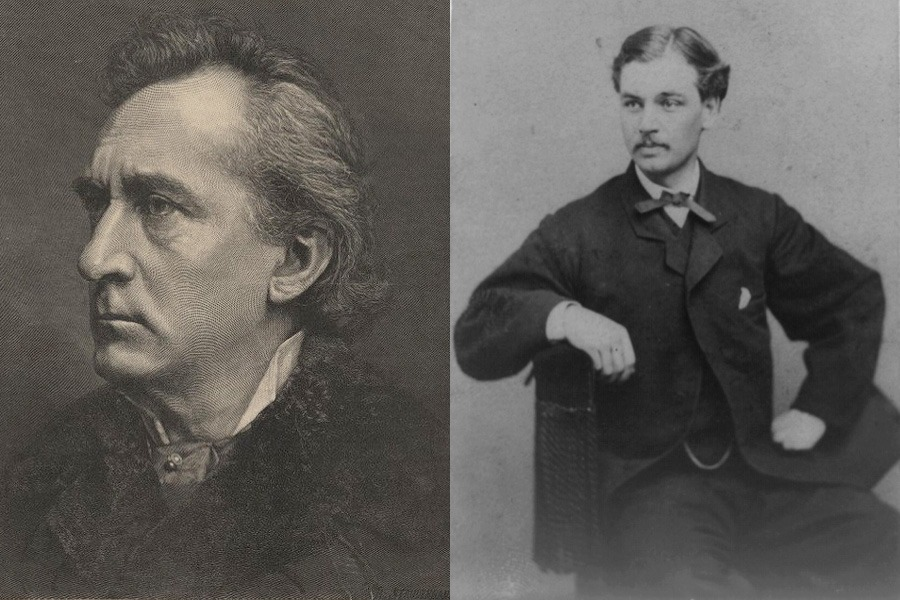 The year before John Wilkes Booth killed Abraham Lincoln, Booth's brother, Edwin (left), saved the life of Lincoln's son, Robert Todd (right), when the latter was about to fall onto train tracks in Washington, D.C.