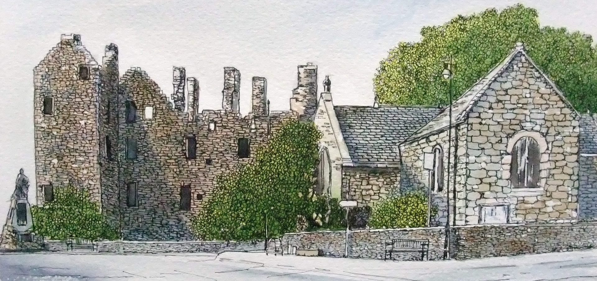 M'Cllelan Castle at Kirkcudbright