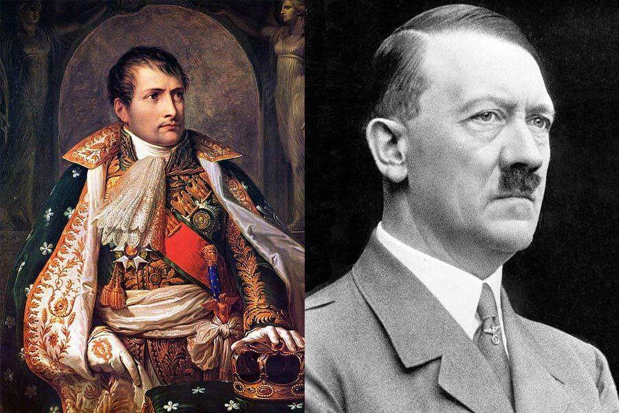 Adolf Hitler was born 129 years after Napoleon Bonaparte. Hitler's rise to power took place 129 years after Napoleon's; he invaded Russia 129 years after Napoleon, and he was ultimately defeated 129 years after the defeat of Napoleon.