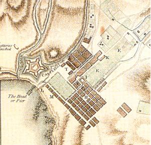 Plan of the slave lodge at the end of the 18th century by IN Wildt (1798)