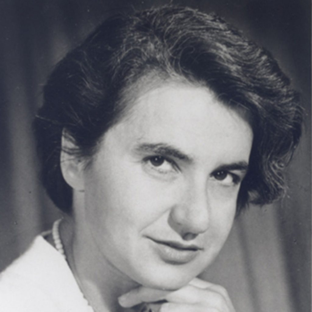 Rosalind Franklin - highly adept at X-ray crystallography