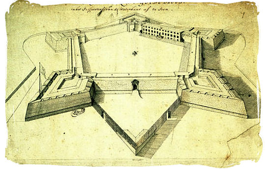 Sketch of the Castle in 1680