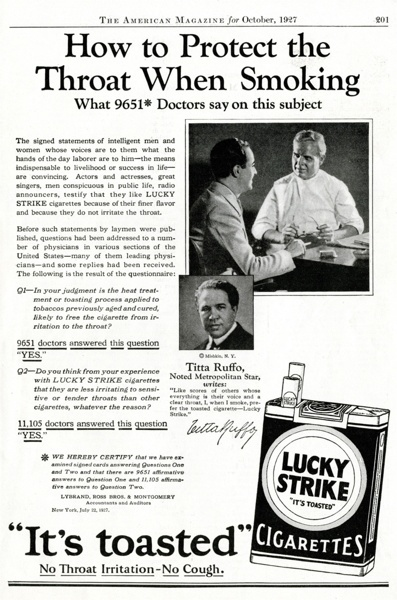 Vintage smoking adverts#23