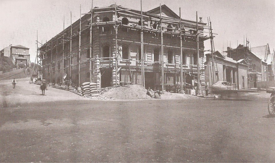 White's Road before the construction of the Library