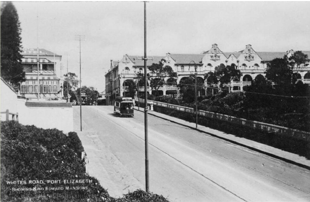 White's Road in November 1904 with a tram commencing the descent