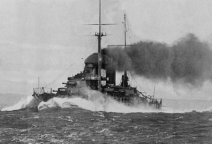 A WWI dreadnought used at the Battle of Jutland