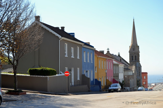 Looking down Alfred Terrace towards the iconic Hill Presbyterian Church