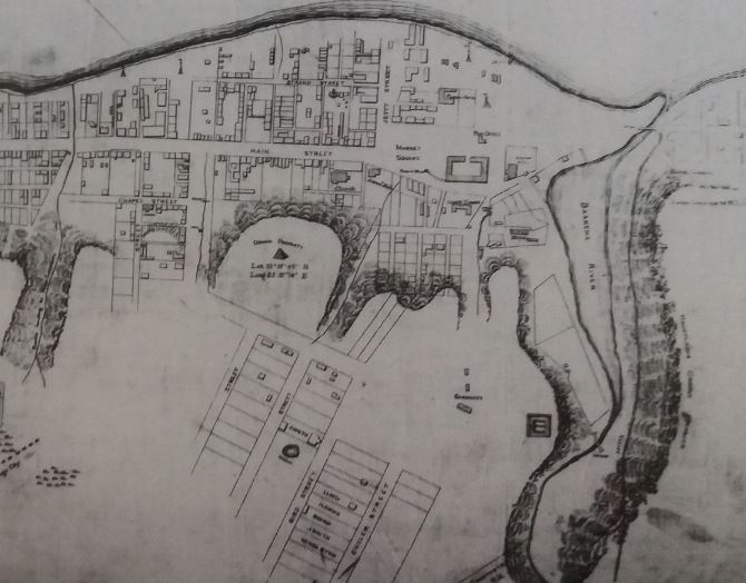 Map dated 1849 showing the vlei