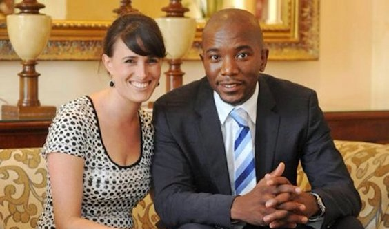 Mmusi Maimane with his wife Natalie