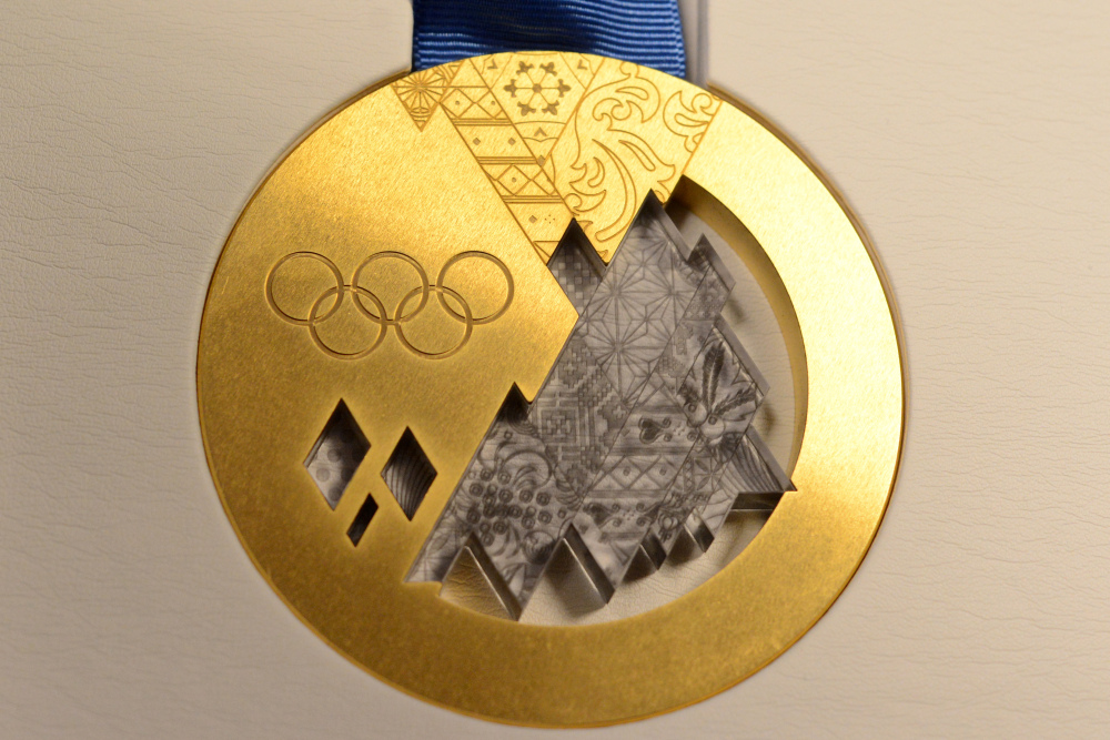 The Sochi 2014 Olympic Gold Medal
