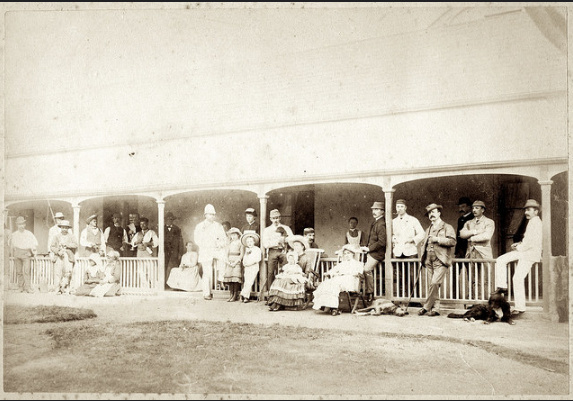 PE in 1886. Howard with friends, c hildren & their nanny#02