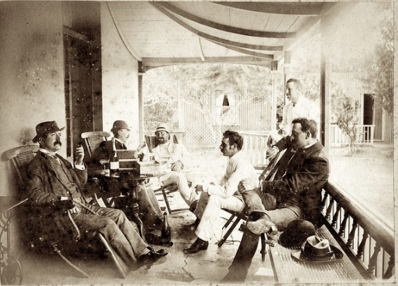 Howard with friends in 1886