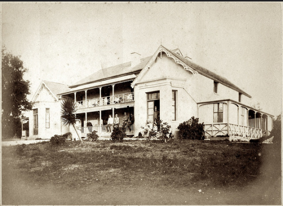 Howard with friends in PE in 1886