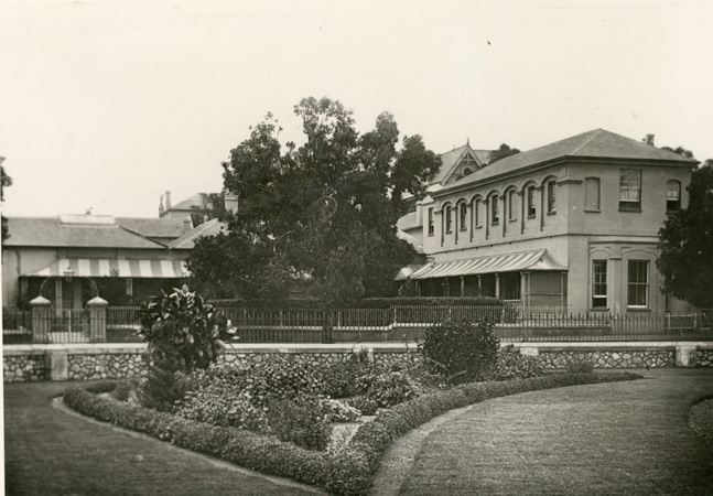 Port Elizabeth Club from Trinder Square Garden. c. 1901-2