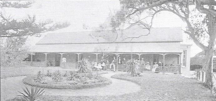 The Emerald Hill Hotel tea gardens in 1898
