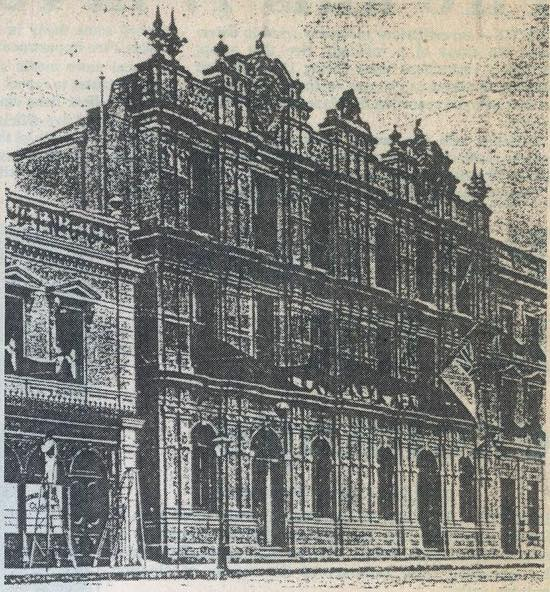 The original Standard Bank Building was built by James John Beckett circa 1870