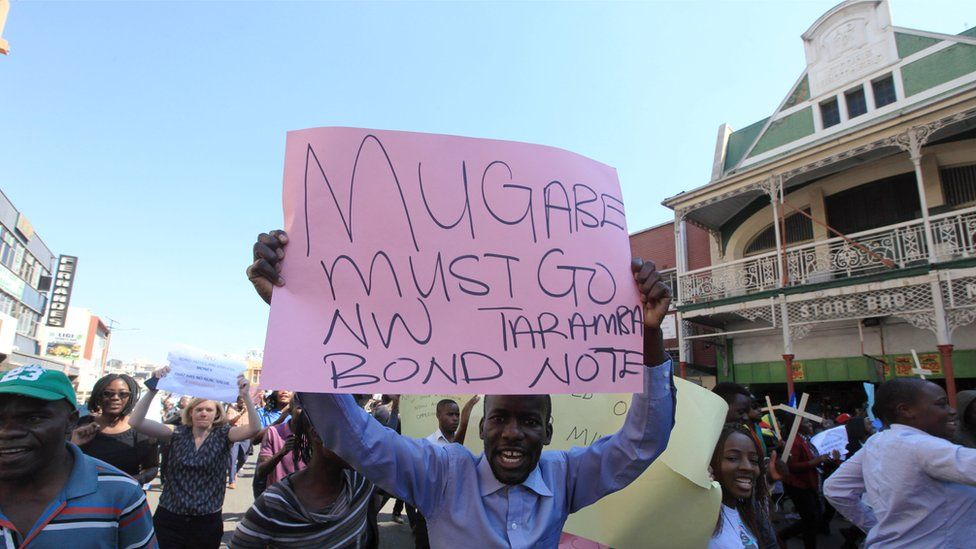 The rare directness of some banners is an indication of how the voices of protest against Mugabe are growing