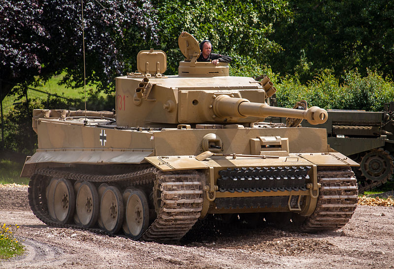 Tiger 131 - the only operating Tiger I tank in the world – was lent by The Tank Museum for the film. It is the first time a genuine Tiger I tank was used in a contemporary war film since 1950; 131 was restored to running condition between 1990 and 2003, further work was only completed in 2012