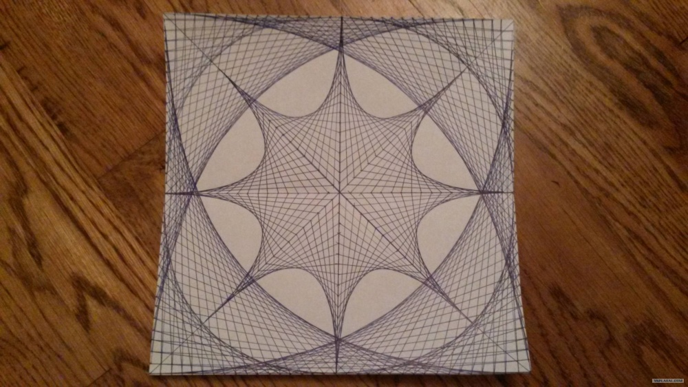 A drawing created with the help of straight lines
