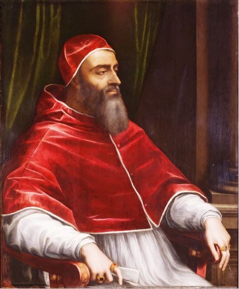 Pope Clement VII who denied Henry VIII an annulment of his marriage to Catherine of Aragon