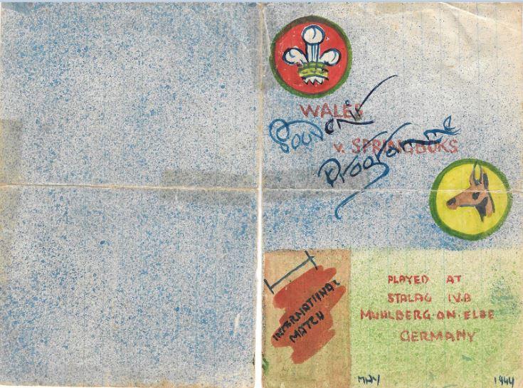 Springbok Match Souvenir Brochure - front