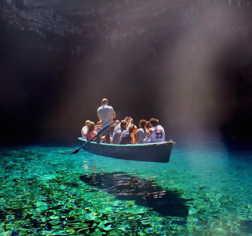 The cleanest water in the world, Melissani Lake, Greece