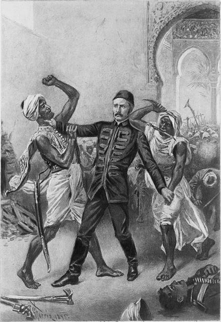 The death of General Gordon at Khartoum by J.L.G Ferris
