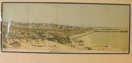 A chromolithograph of Port Elizabeth in 1886 by Graham Winch