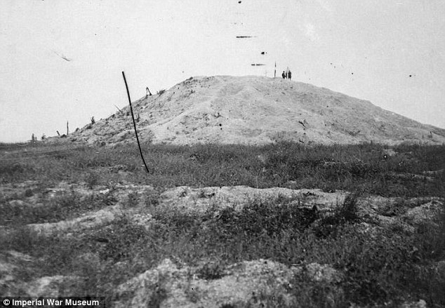 Fortified with barbed wire, and defended by machine guns and mortar, the Butte de Wallencourt
