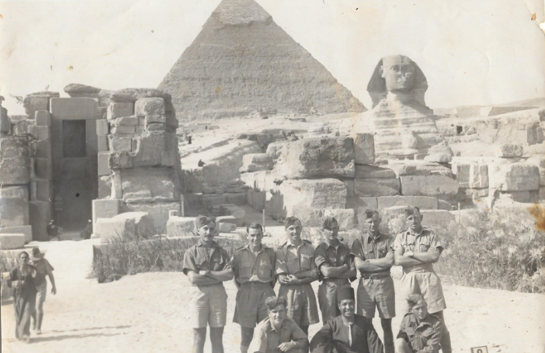 Harry Clifford McCleland in Egypt during WW2