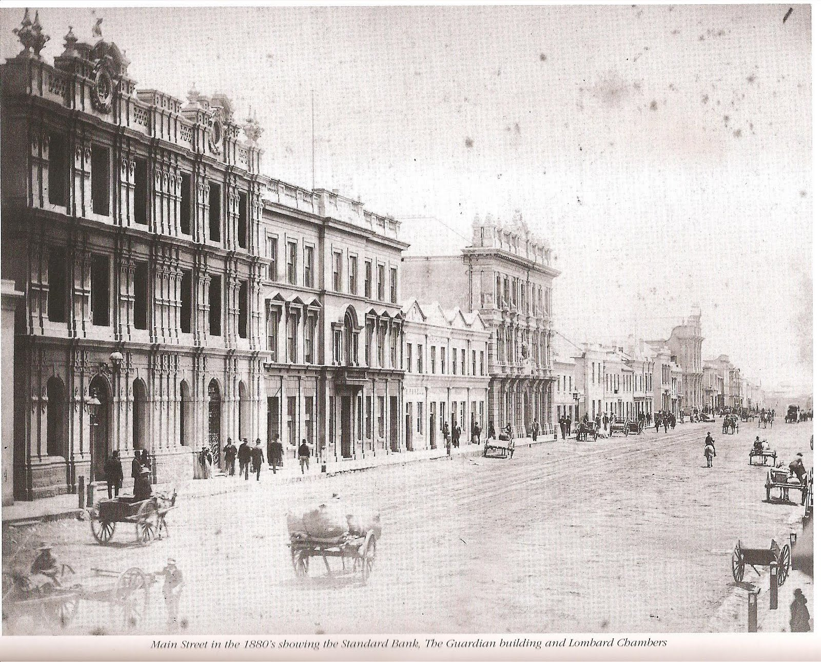 Main Street in the 1880s