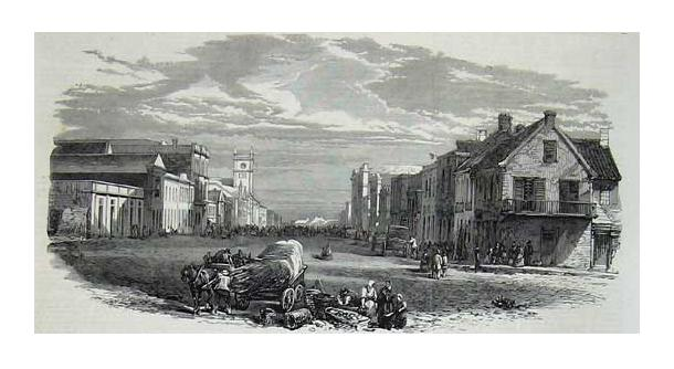 Main Street in the 1840s